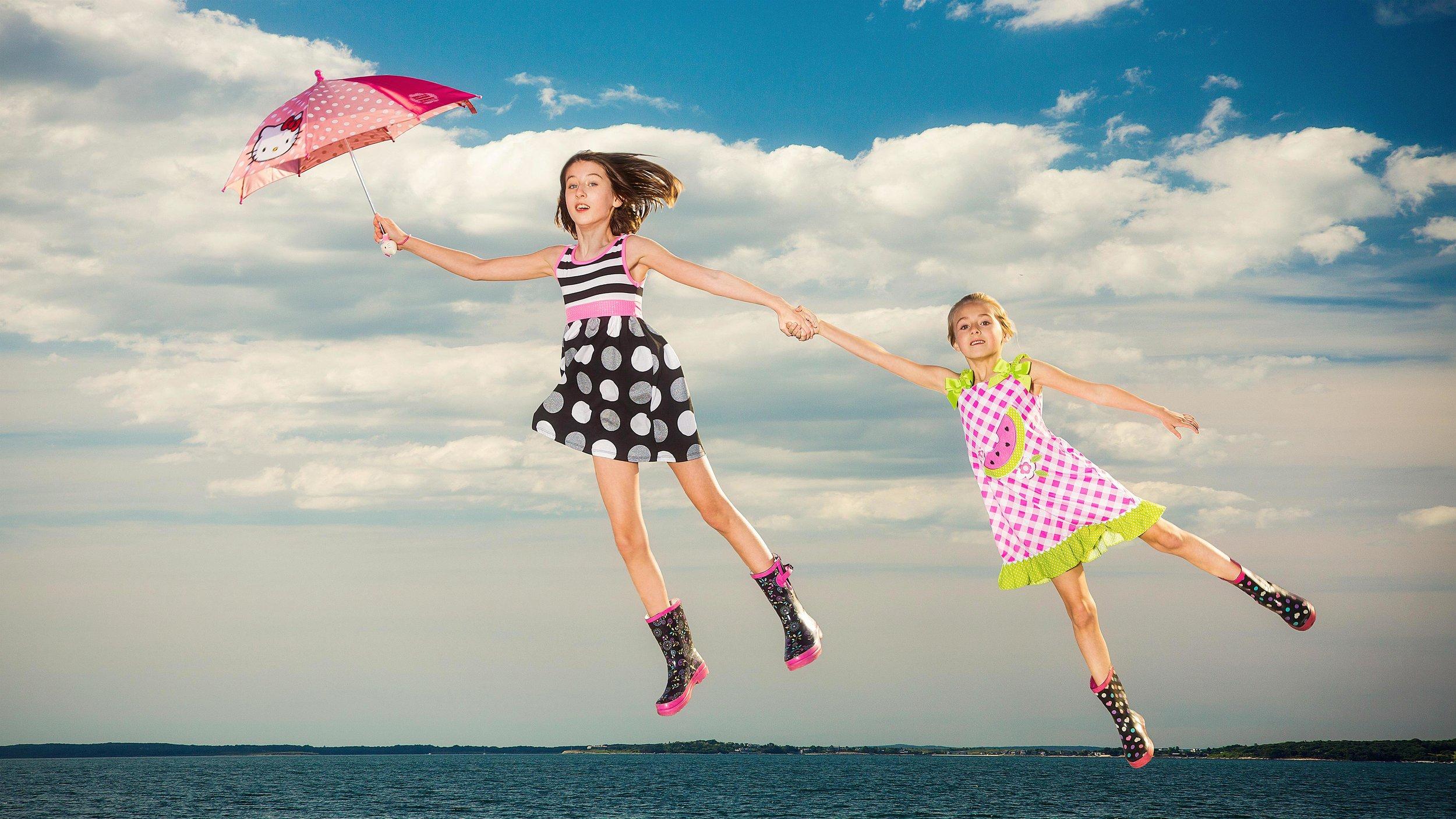 Flying sisters.