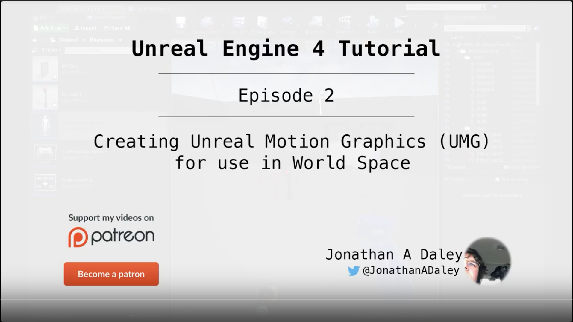 Unreal Engine 4 Tutorial - Ep2 - Creating Unreal Motion Graphics (UMG) for use in World Space