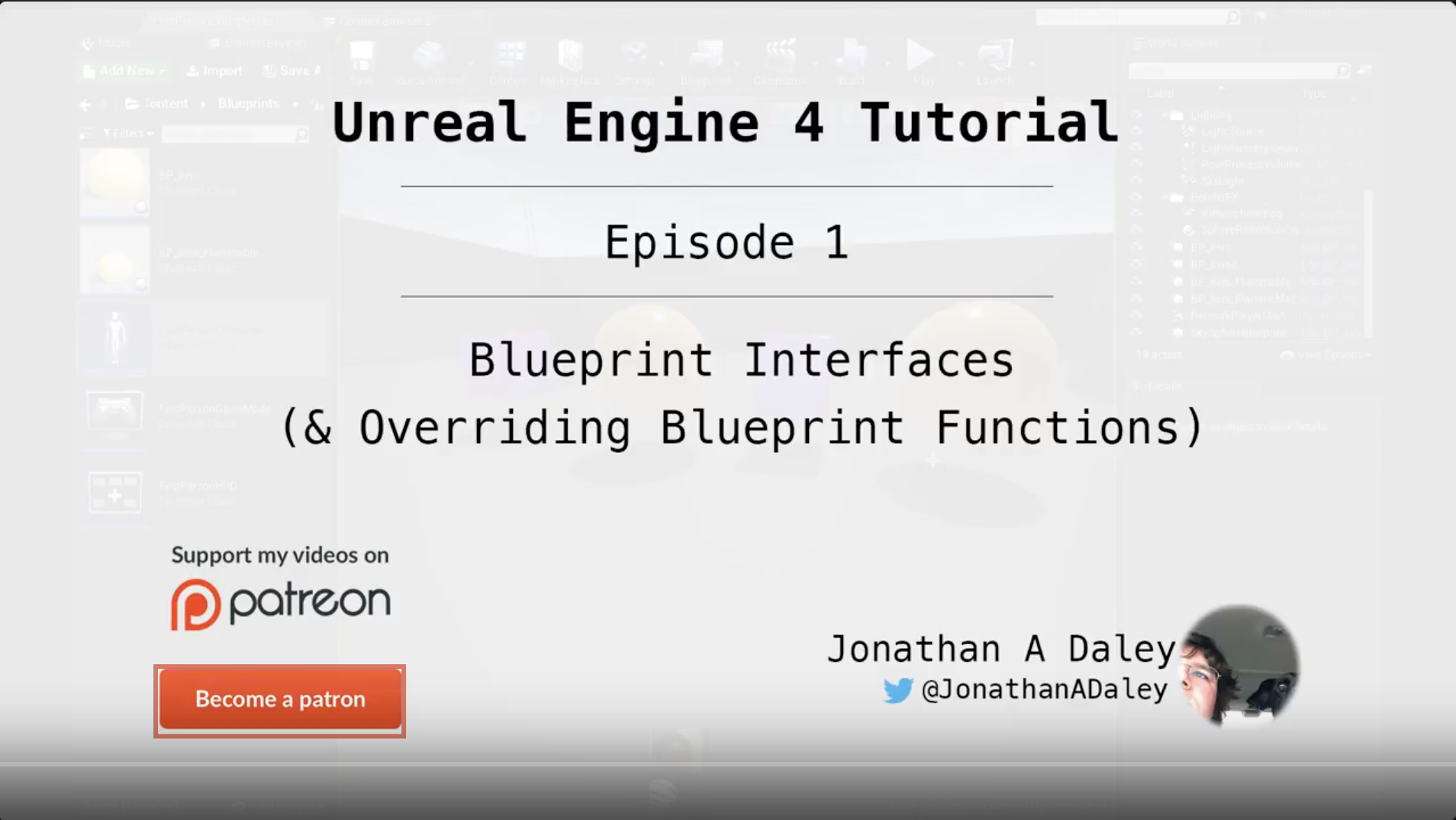 Unreal Engine 4 Tutorial - Ep1 - Blueprint Interfaces (& Overriding Blueprint Functions)