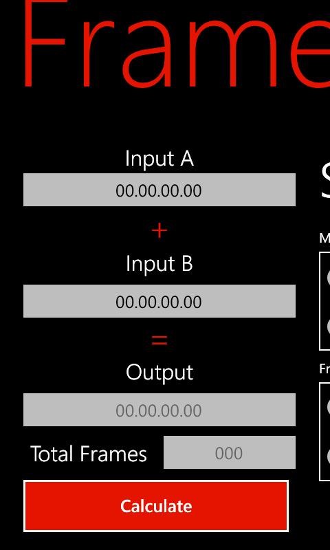 Frame Math (Windows Phone)