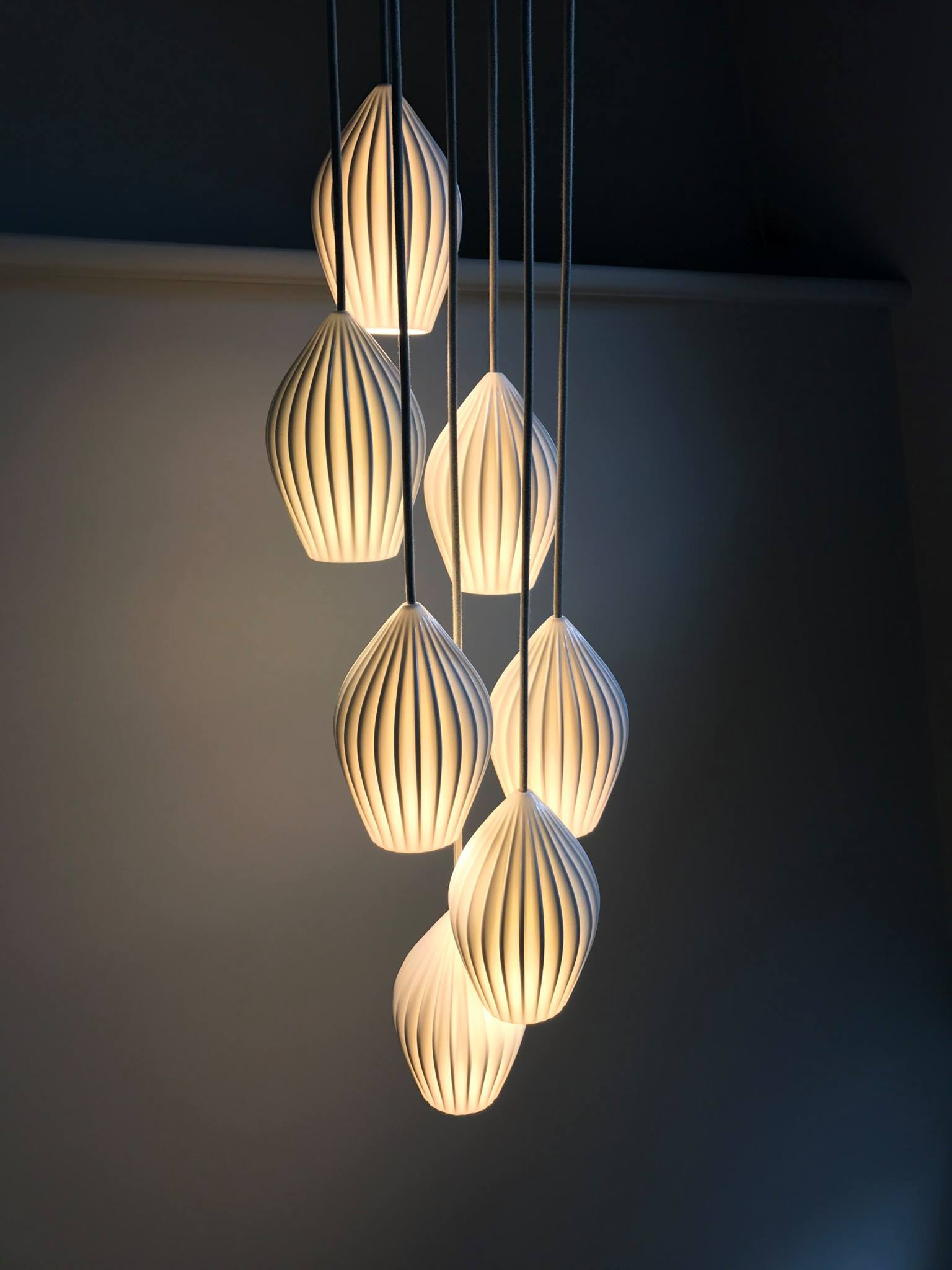 Love these stairwell lights from  Original BTC