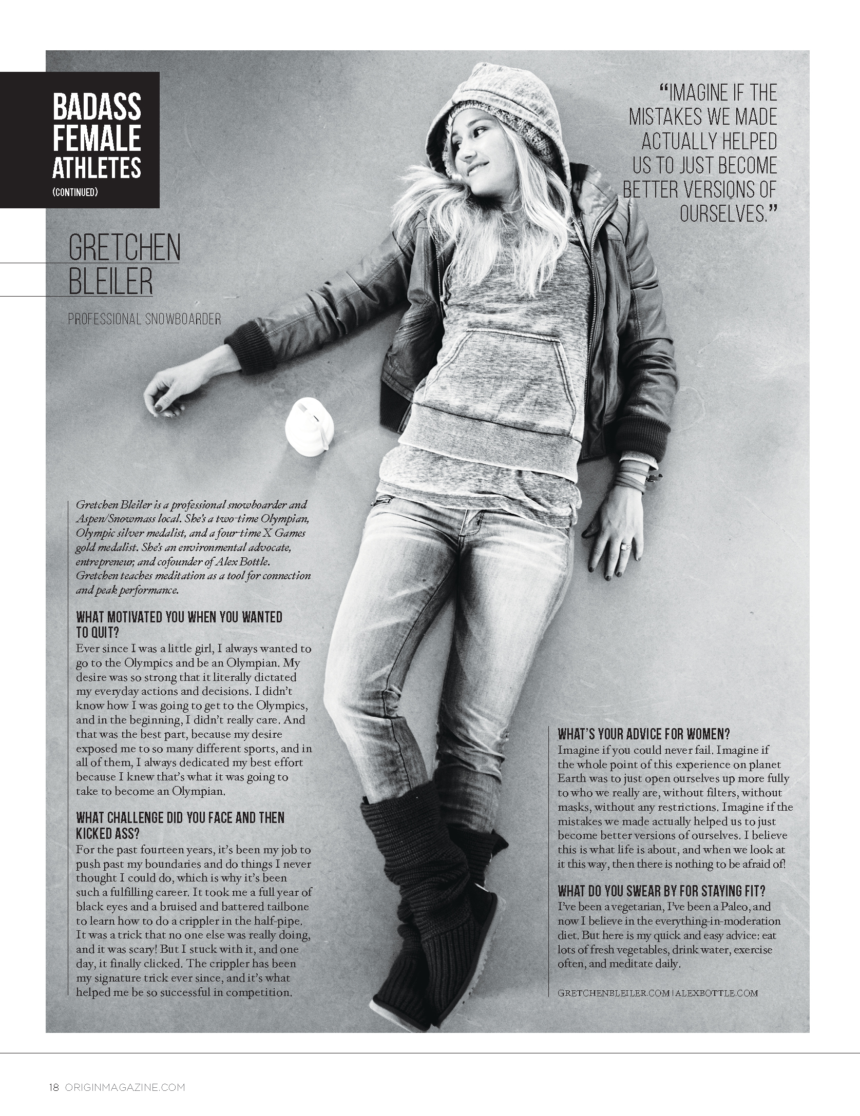 "Origin Magazine ""Badass Female Athletes"""