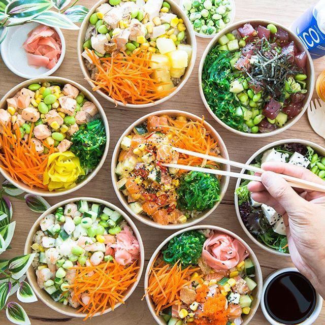 Our signature bowls selection!Have u tried one yet? 🤤#pokebay #baytobowl