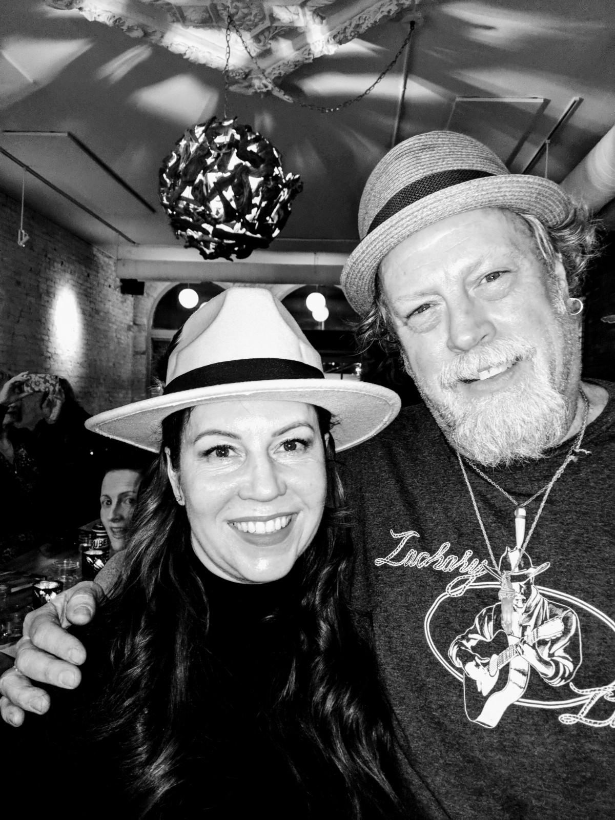 Lori D'Agostino with Crow. Bar's Steve Vipond