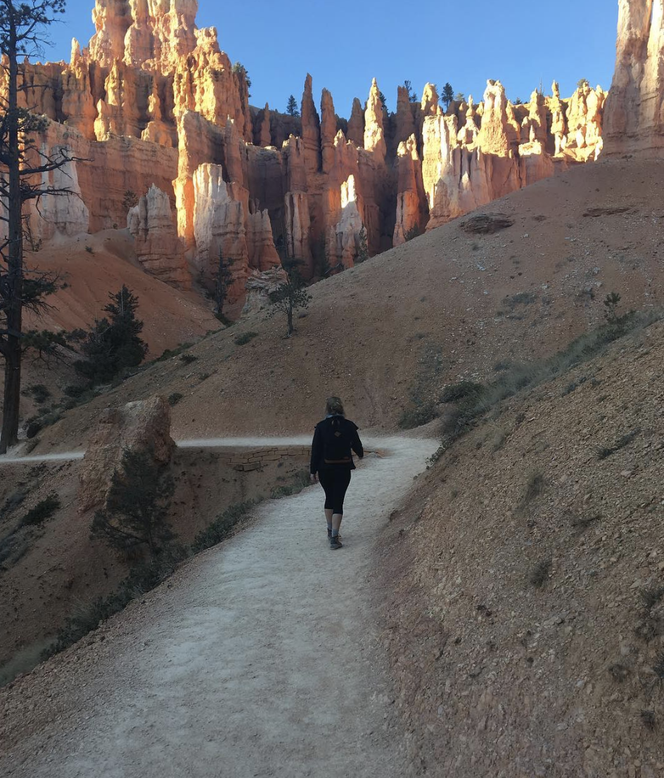 Audre hiking at Bryce Canyon National Park.