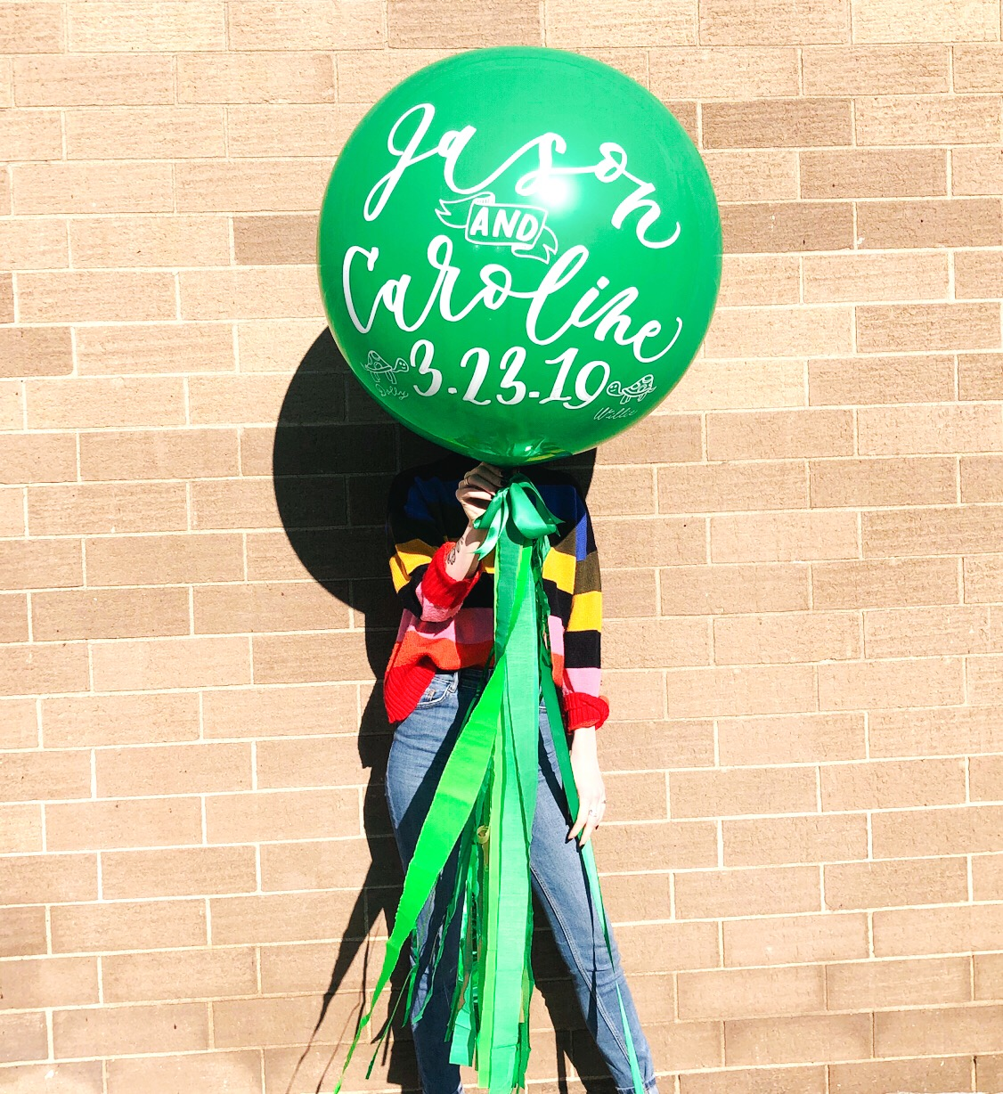 vroom_vroom_balloon_deluxe_hand_lettered_calligraphy_green_wedding_turtles.JPG