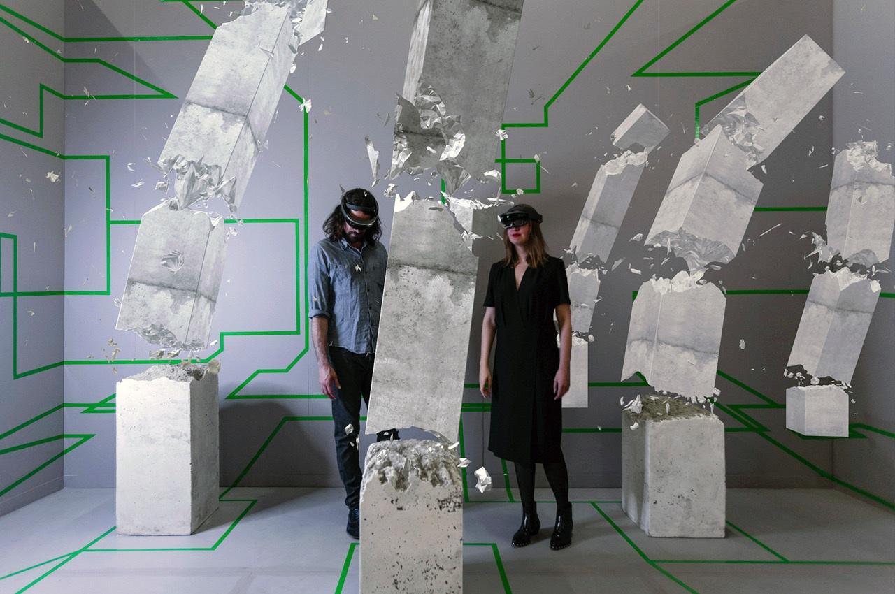 Ralph Nuta and Lonneke Gordijn, Studio Drift-Concrete Storm. Image courtesy of Studio Drift.