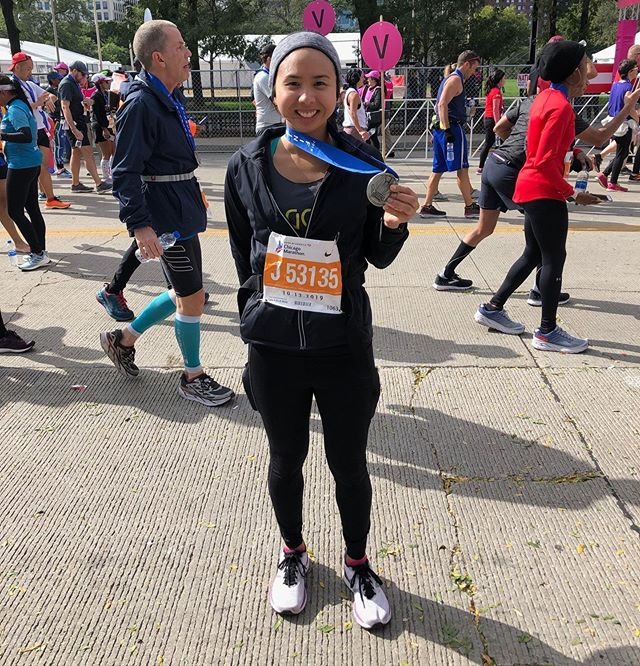 Special Shoutout to global runner @nikkipuyat who finished @berlinmarathon & @chimarathon 2 weeks apart!! Way to rep GCR in the rainy (Berlin) and windy cities!! 🏅 🏅💨 ☔️🏃🏻♀️Now go celebrate in some sun which we know you prefer 🥳☀️ #gcrracing2019 #gothamcityrunners #berlinmarathon #berlinlegend #chicagomarathon #windycitywinner
