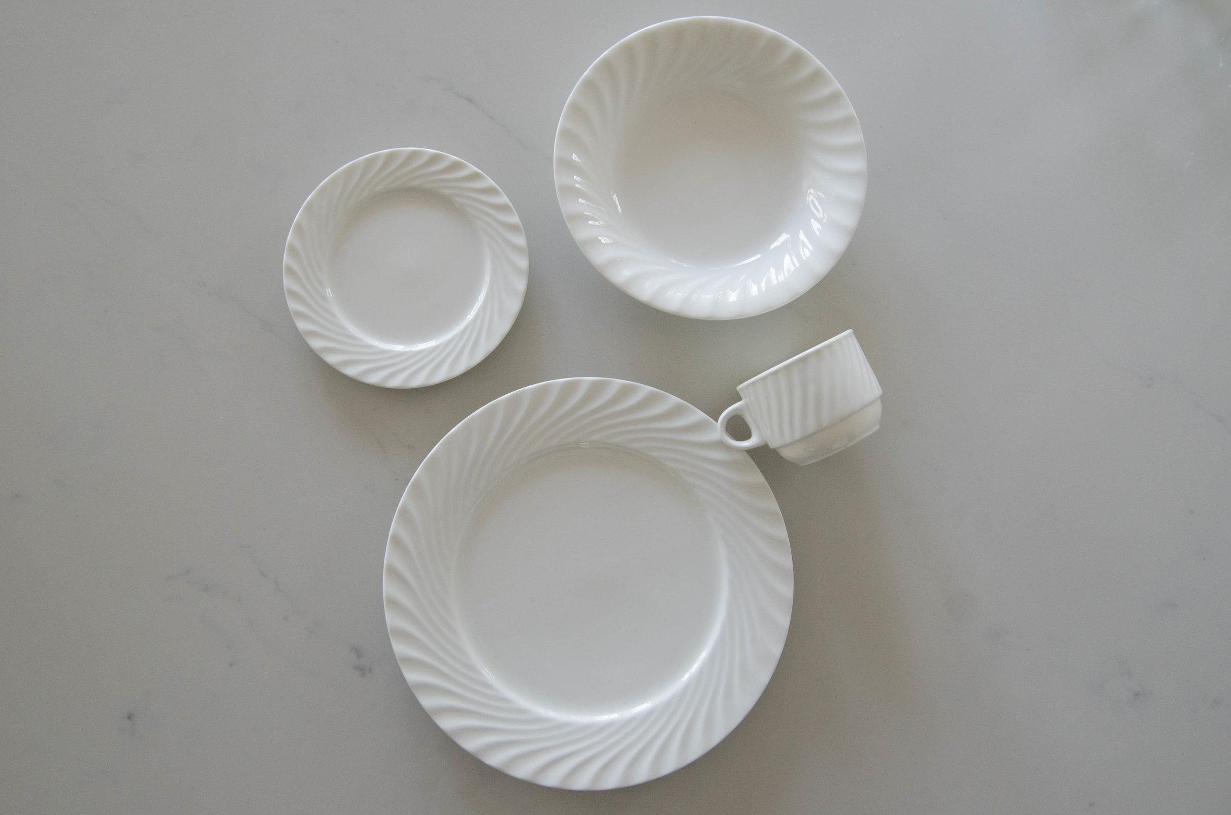 Textured White Dinnerware