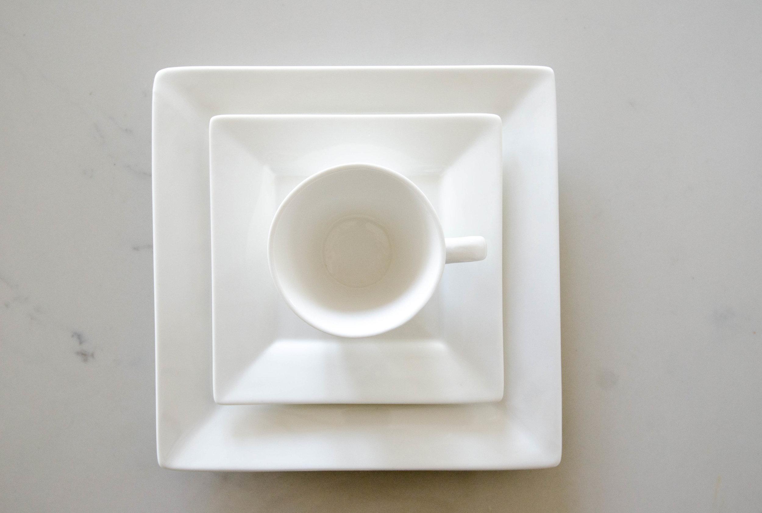 White Square Dinnerware
