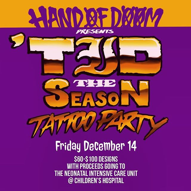 @handofdoomtattoos Friday alll day!!!!! cmon down and help out with a great cause!