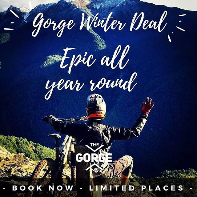 It's winter deal time, so get your mates together and get booked in quick. Savings of up to $950 for groups of 10. Strictly limited places.  Everything you need to know is at www.thegorge.nz/winter-package-deal  #thegorgenz #wgbp #nelsonmtb #nmtbc#extraordinary #nelsonshines #nmtbc #nelsonmtb#mountainbike #mtb #enduro #singletrack #epic#nelsonnz #nz #wairoagorge #wairoa #bikepark