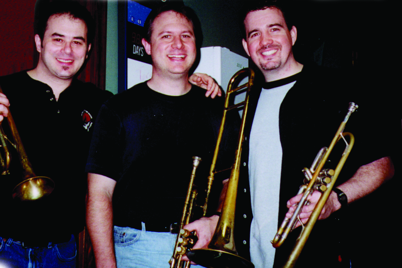 Howl at the Moon San Antonio Horns 2001- From Left- Joe Miraglilo, Billy Ward, Mike Clavijo