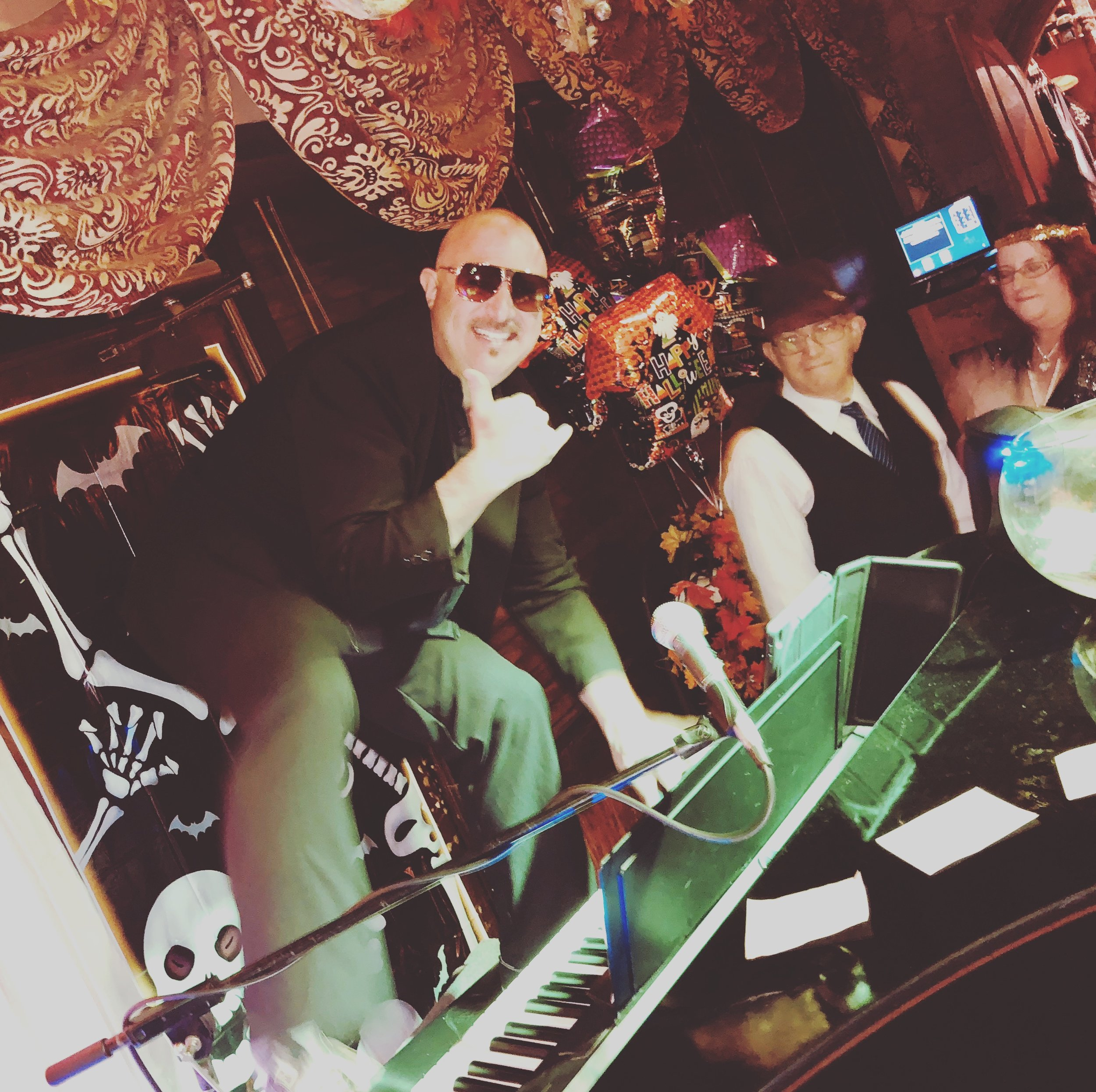 Dueling Pianos at Vincitorio's Restaurant and Wine Bar Tempe, AZ- Billy as Pitbull, Halloween, 2018