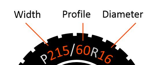 tire profile chart guide snow chain