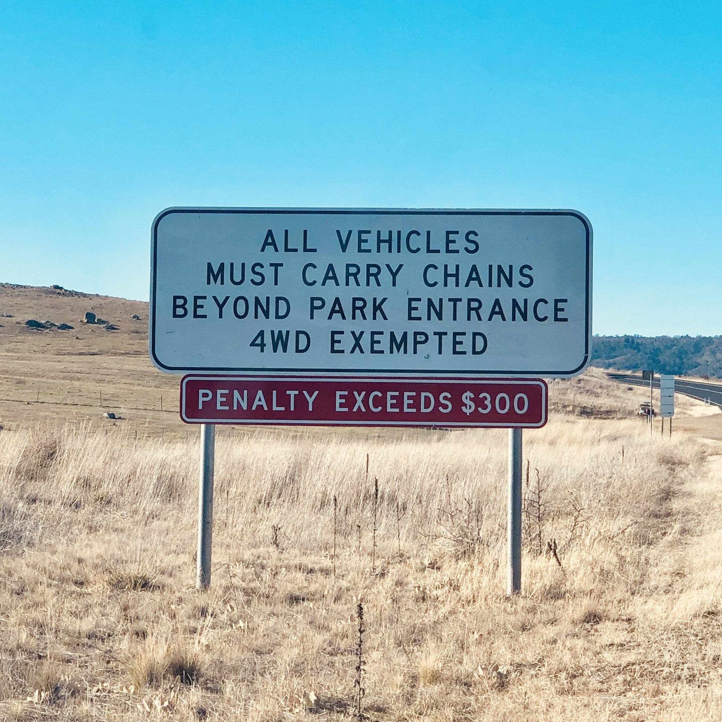 CHAINS SIGN