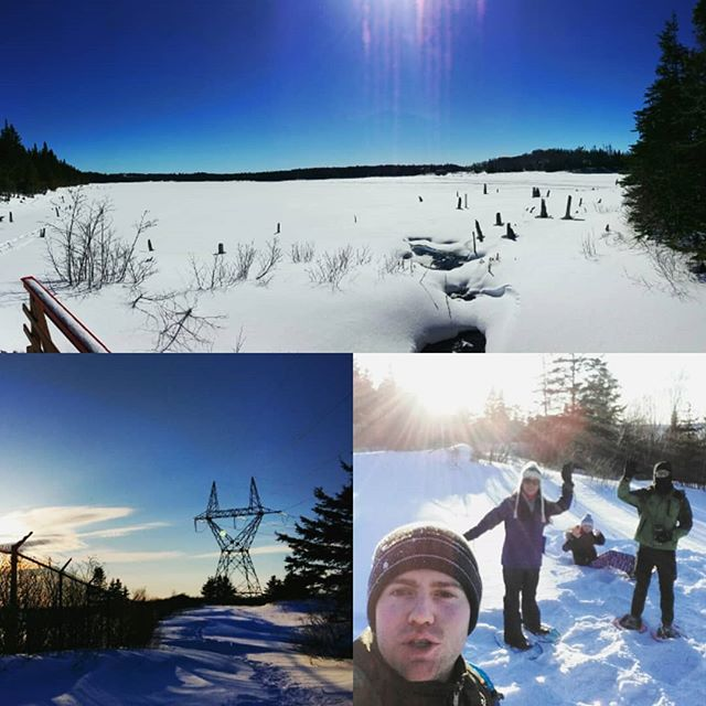 Been having some pretty good weather lately. Feels really good to finally get outdoors.  #outdoors #snow #snowshoeing #newfoundland #winter #naturephotography #hiking