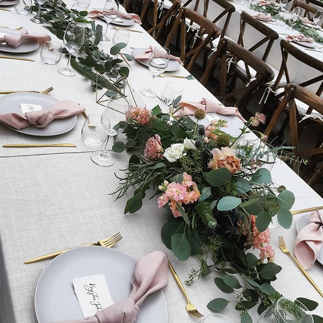 I love my 'job'! 🌸🌿 congrats to these two! #eatdrinkandbenanni and 👏 to the talent involved in this beauty wedding. @lavishengagements . . . #botaniccreative #weddingseason #weddingvictoria #weddingflorist #weddingflowers #weddinginspo #tietheknot #weddingdecor #victoriawedding #dustyrose #centerpieces #tablescape #eucalyptus #floralinspo #ferns #westcoastinspiration #westcoastwedding #vancouverislandwedding #vanislewedding