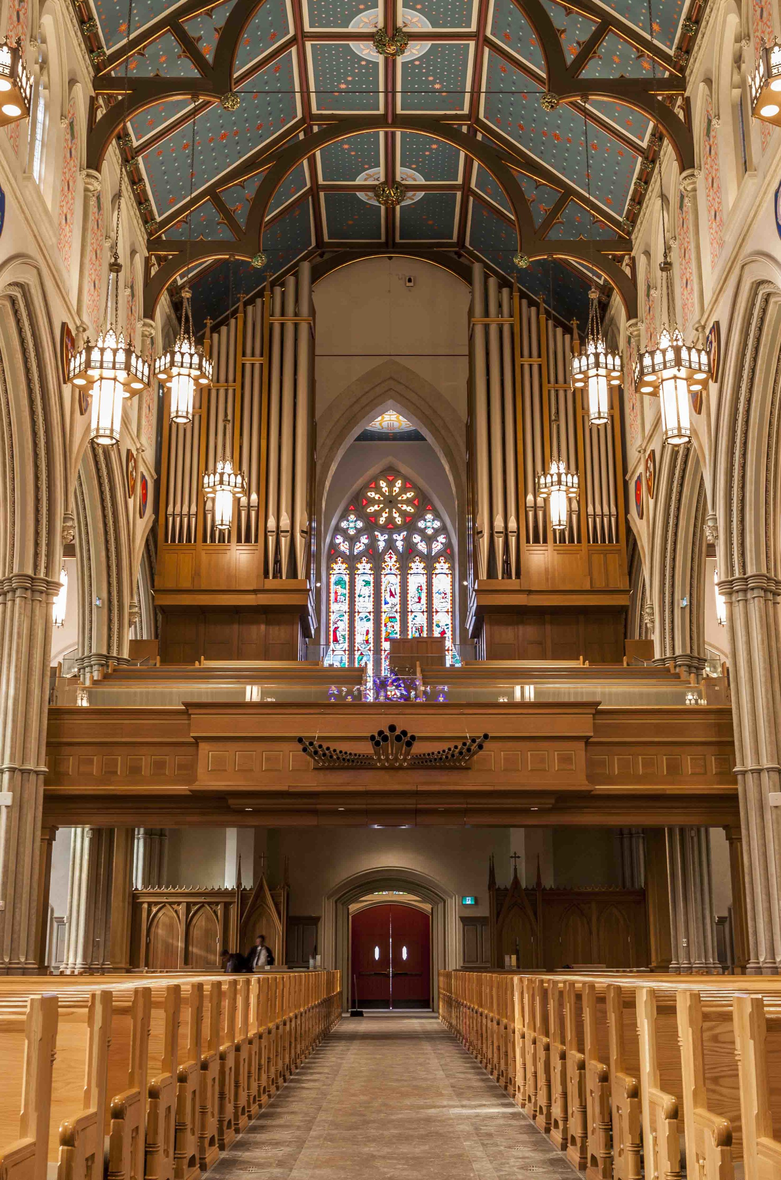 The outstanding Casavant pipe organ can be played from the Phoenix console in the chancel with the push of a button - 5 seconds transfer time.