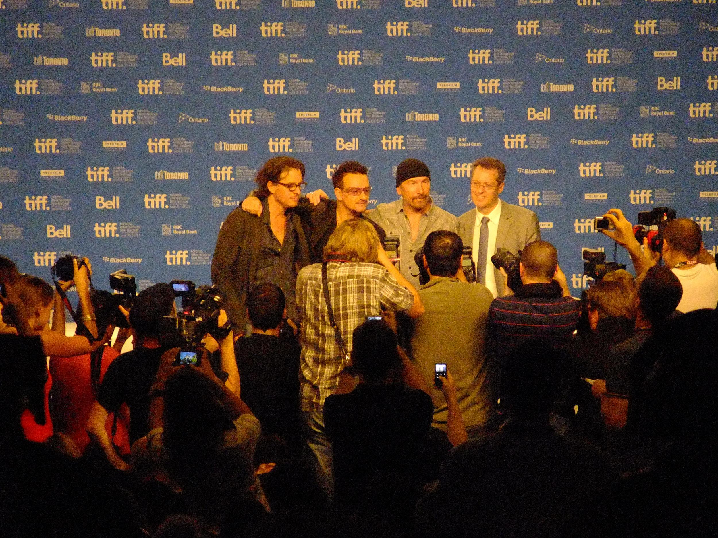 Media set in use by Bono & U2