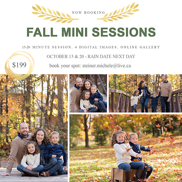 fall photography sessions taking place in Ottawa area with families