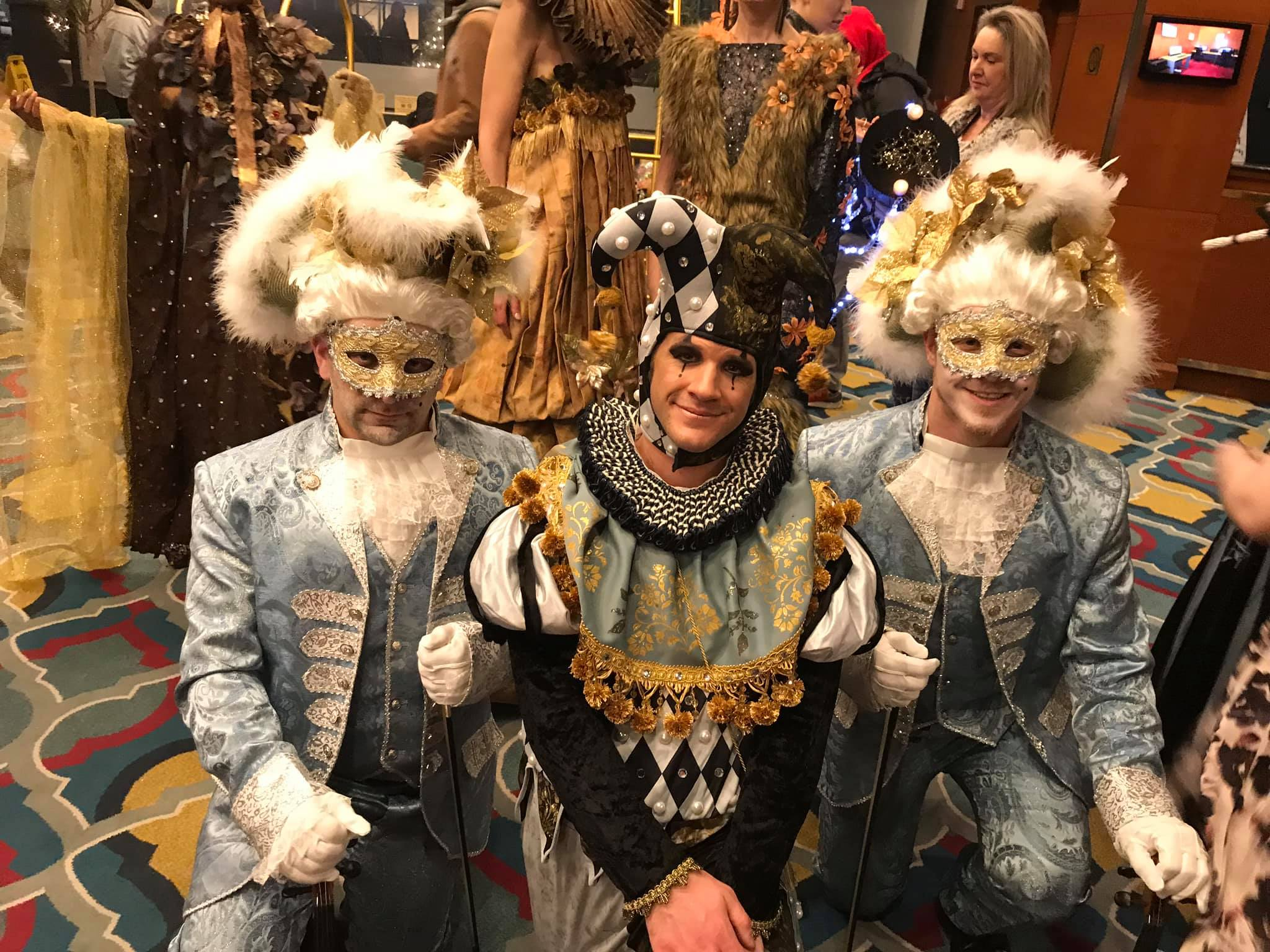 Three theater team members:  Keith Maliszewski ,  Jason Goldberg ,  Neal Sheaffer