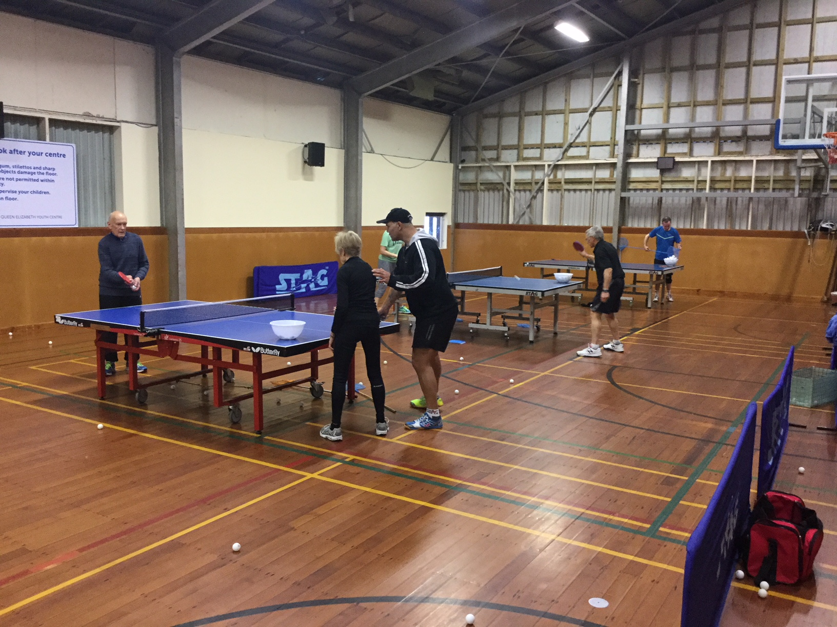 A 2017 weekend training session with ITTF Coach John Tuki