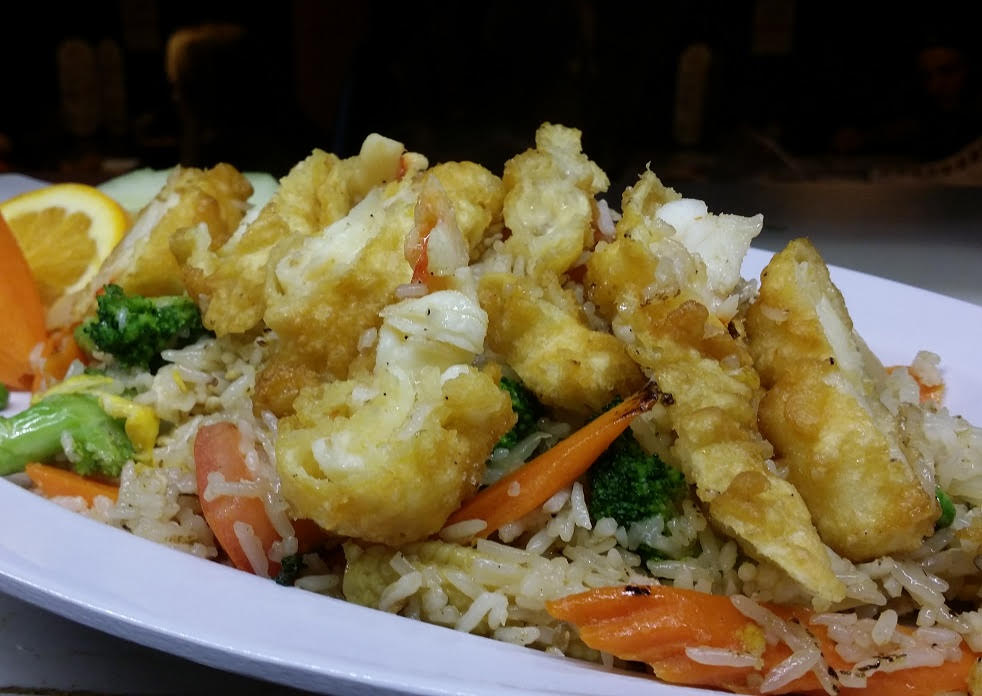 Lobster House Special - Deep-fried lightly battered Lobster Tail with the choice of Pad Thai or Fried Rice.