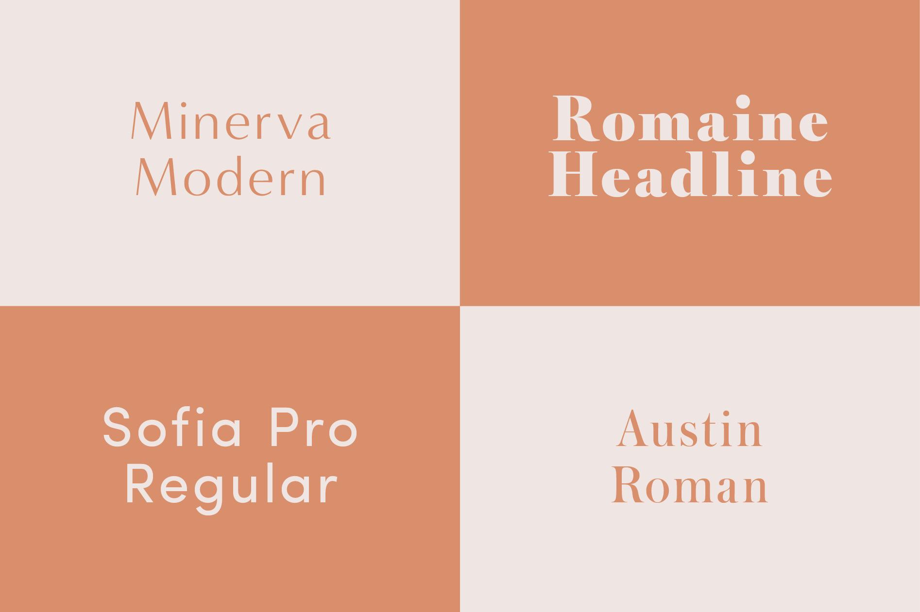 Fonts Minerva Modern Romaine Sofia Pro Austin