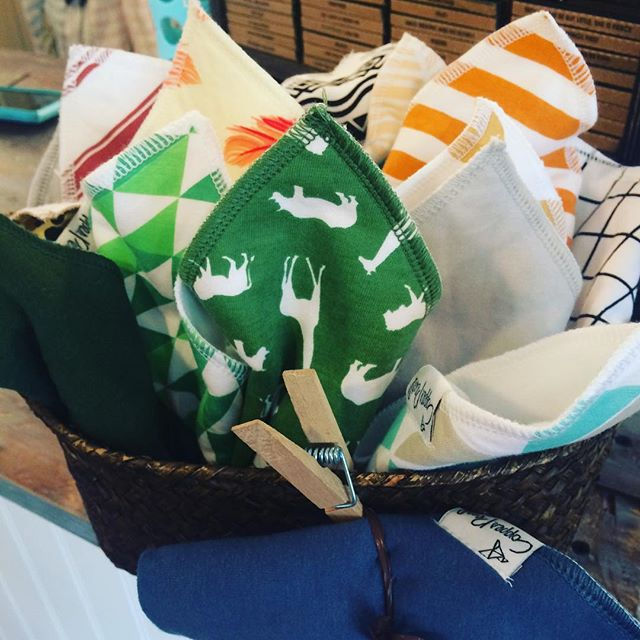 The cutest, simple and not-too-bulky bibs around for just $8. Stop in to grab one!