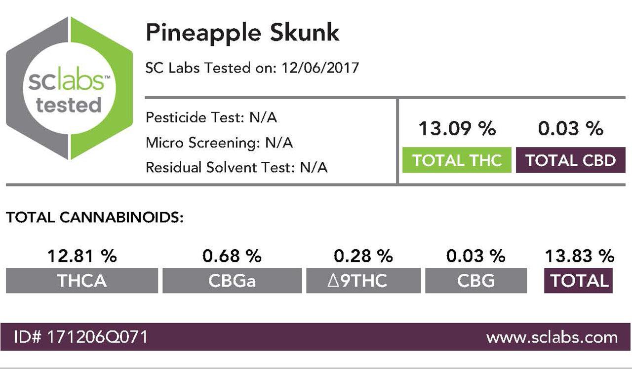 Pineapple Skunk Greenhouse 11/2017