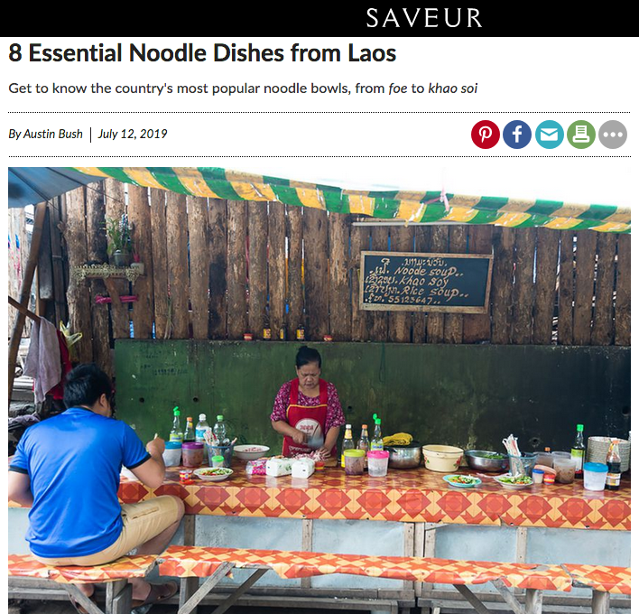 "Text & photos: "" 8 Essential Noodle Dishes from Laos ,""  Saveur"