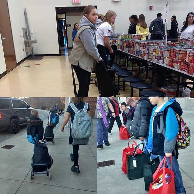 We have started working on our big winter project,collecting and distributing food for the students' winter and spring break bags! We would love to have you join us by organizing a collection from your work place, neighborhood, school or religious community. Please contact us if you would like to contribute.
