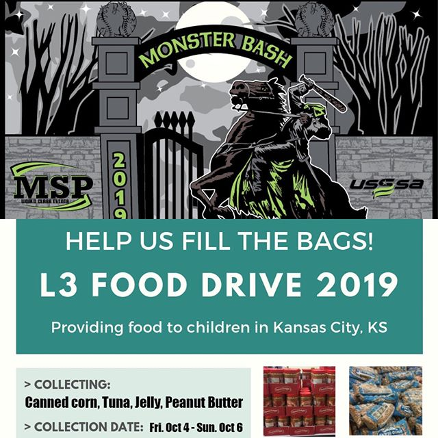 L3 is so excited to partner with Midwest Sports Productions (MSP) to help Fill the Bags!! The organization is using their Monster Bash baseball tournament to collect items for our annual food drive!! Thanks MSP! #fillthebags #l3kc #thanksmsp #heybatterbatterswing