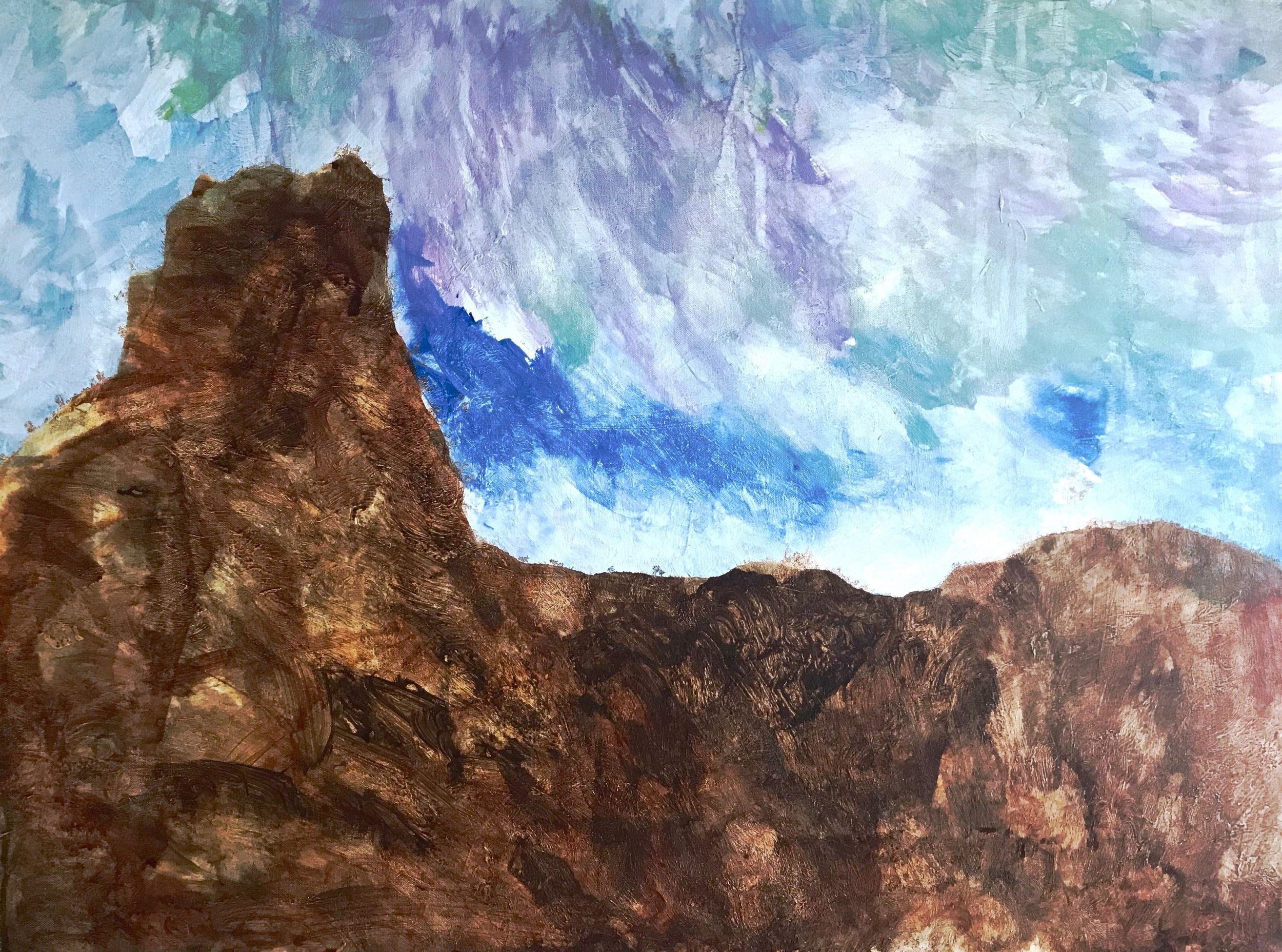 """Arizona Red Rocks""    Landscape  Series  Acrylic Paint on Canvas, 30"" x 35"""