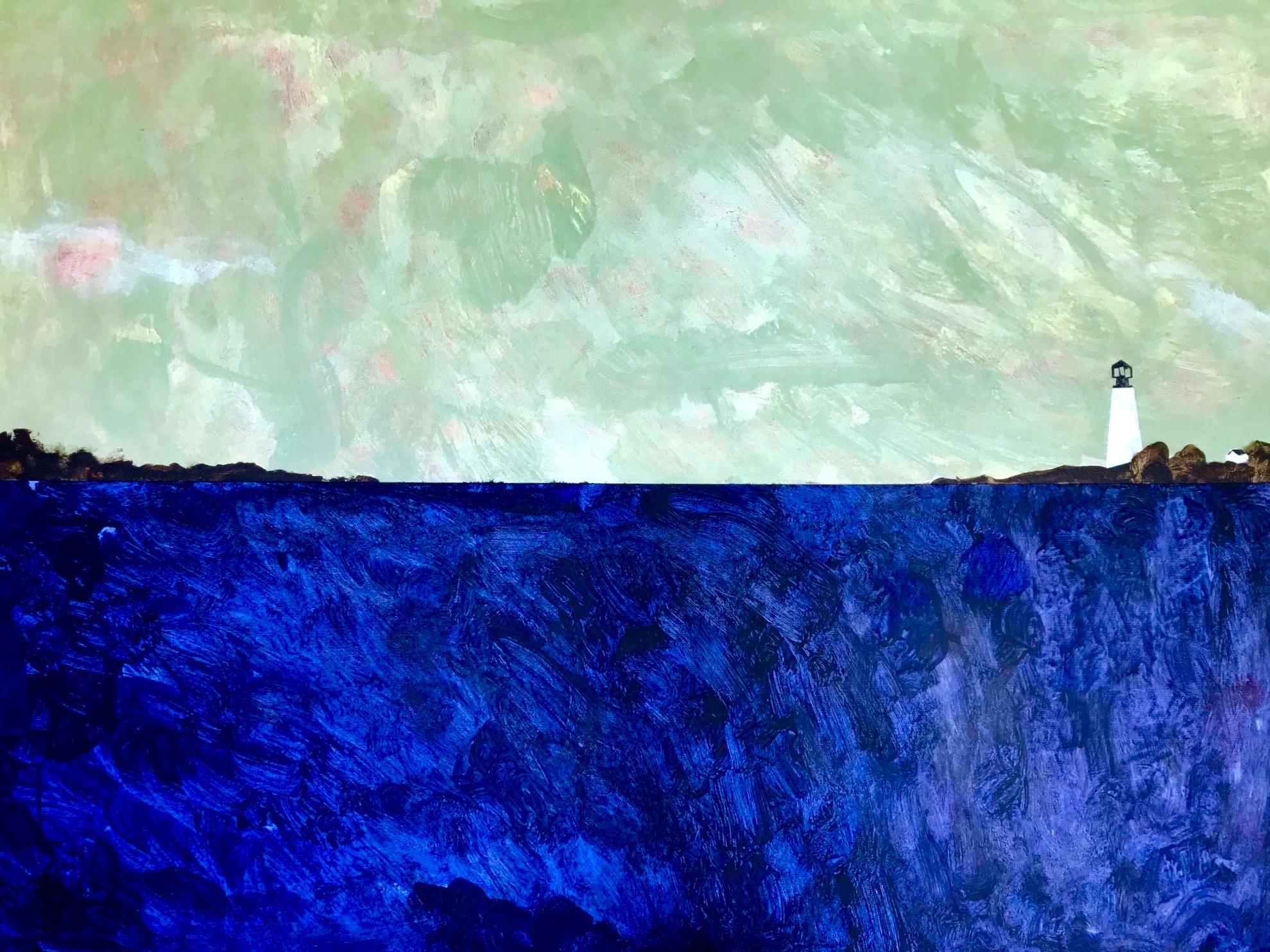 """""""Oregon Coast""""   Acrylic Paint on Oil Canvas, 30"""" x 35"""""""