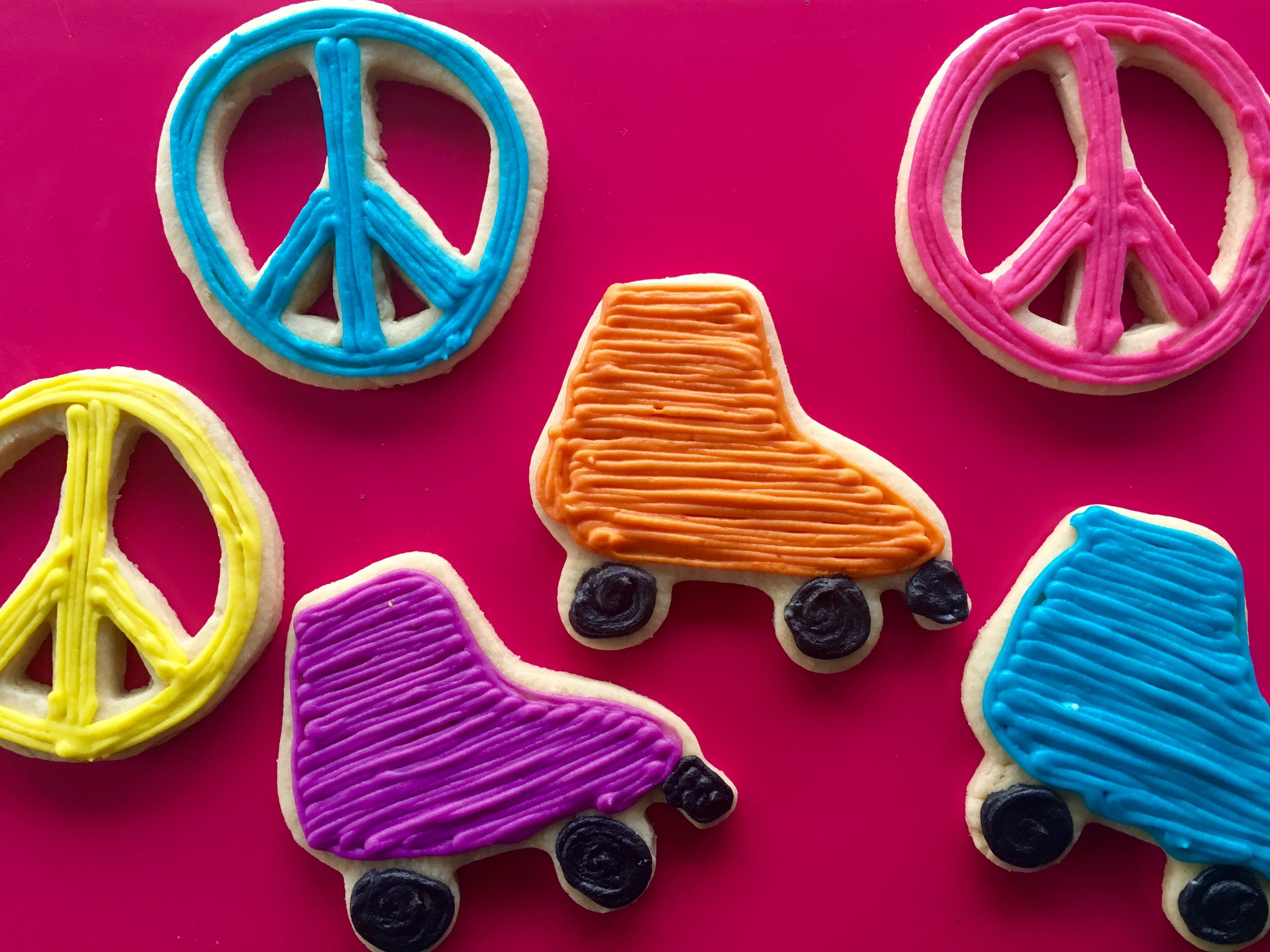 Roller Skate and Peace Sign Cookies.jpg