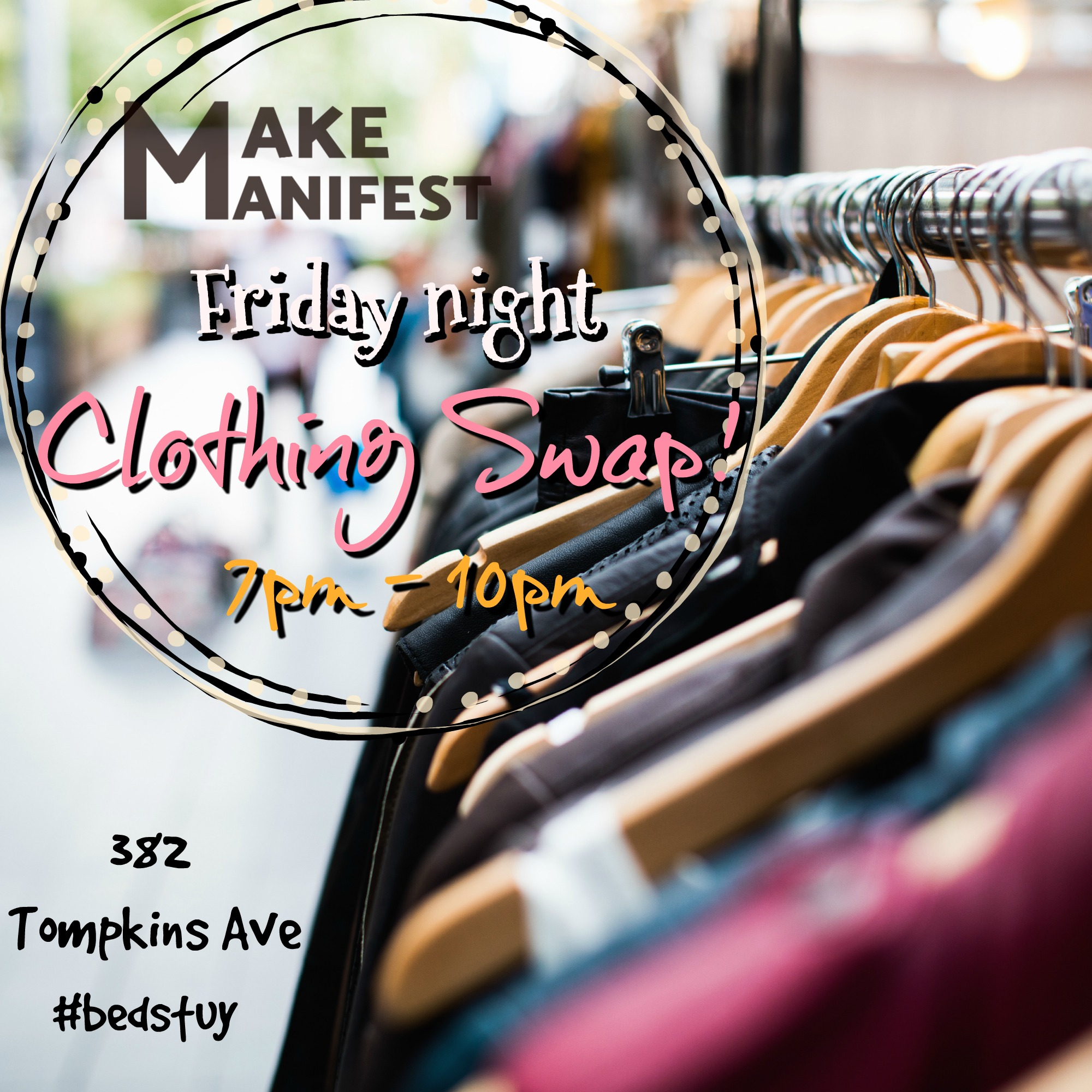 Last Friday of Every Month we Swap, Craft and Shop! - 1 to 1 Clothing SwapCrafts for youths and adultsShop a few local indie artisansApply to be a vendor!