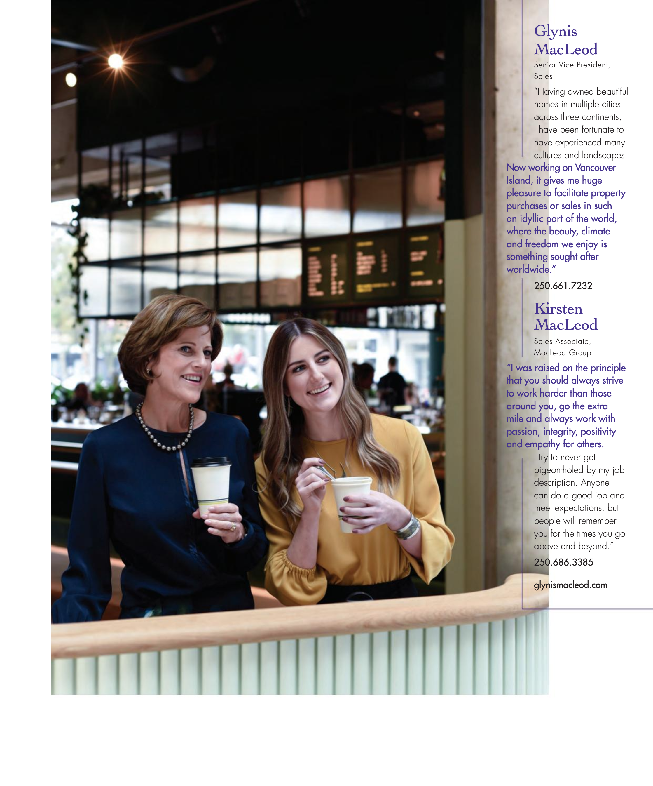 "BOULEVARD MAGAZINE — THE INFLUENCERS - Glynis and Kirsten MacLeod were featured on Page 111 in Boulevard's ""The Influencers"" section alongside ""business people who inspire"". Flip through the magazine below."