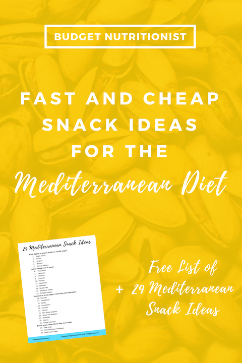 Mediterranean diet snacks | Meal planning on a budget | Mediterranean snack recipes