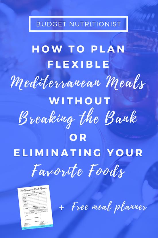 flexible meal planning, Mediterranean diet, non diet dietitian
