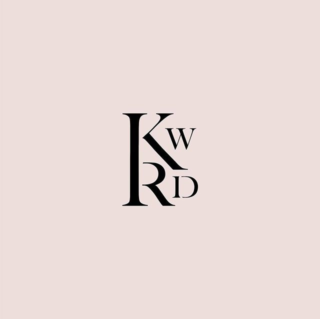 Submark that went out the door in a brand presentation yesterday. I think we're ultimately going to go in a slightly modified direction, but I just looove type play 🌹#logodesigner #brandstylist #whitespacespring