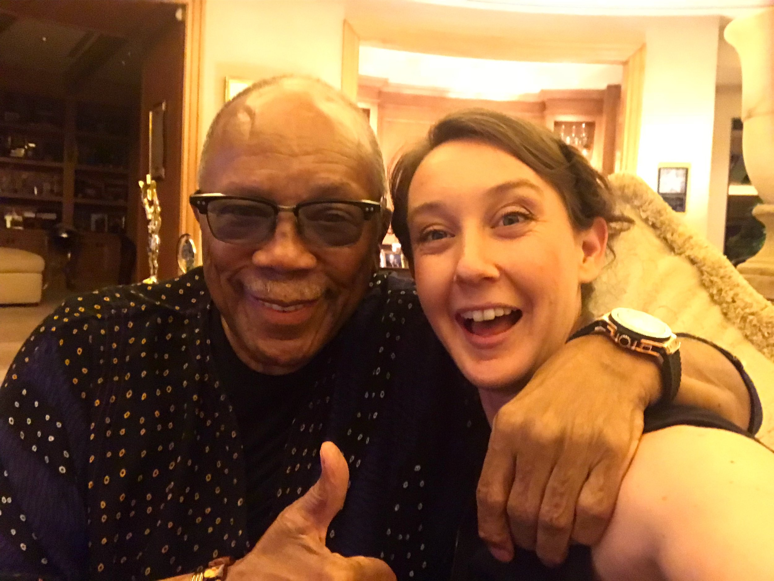 Quincy Jones and Helen Wicks, June 2018