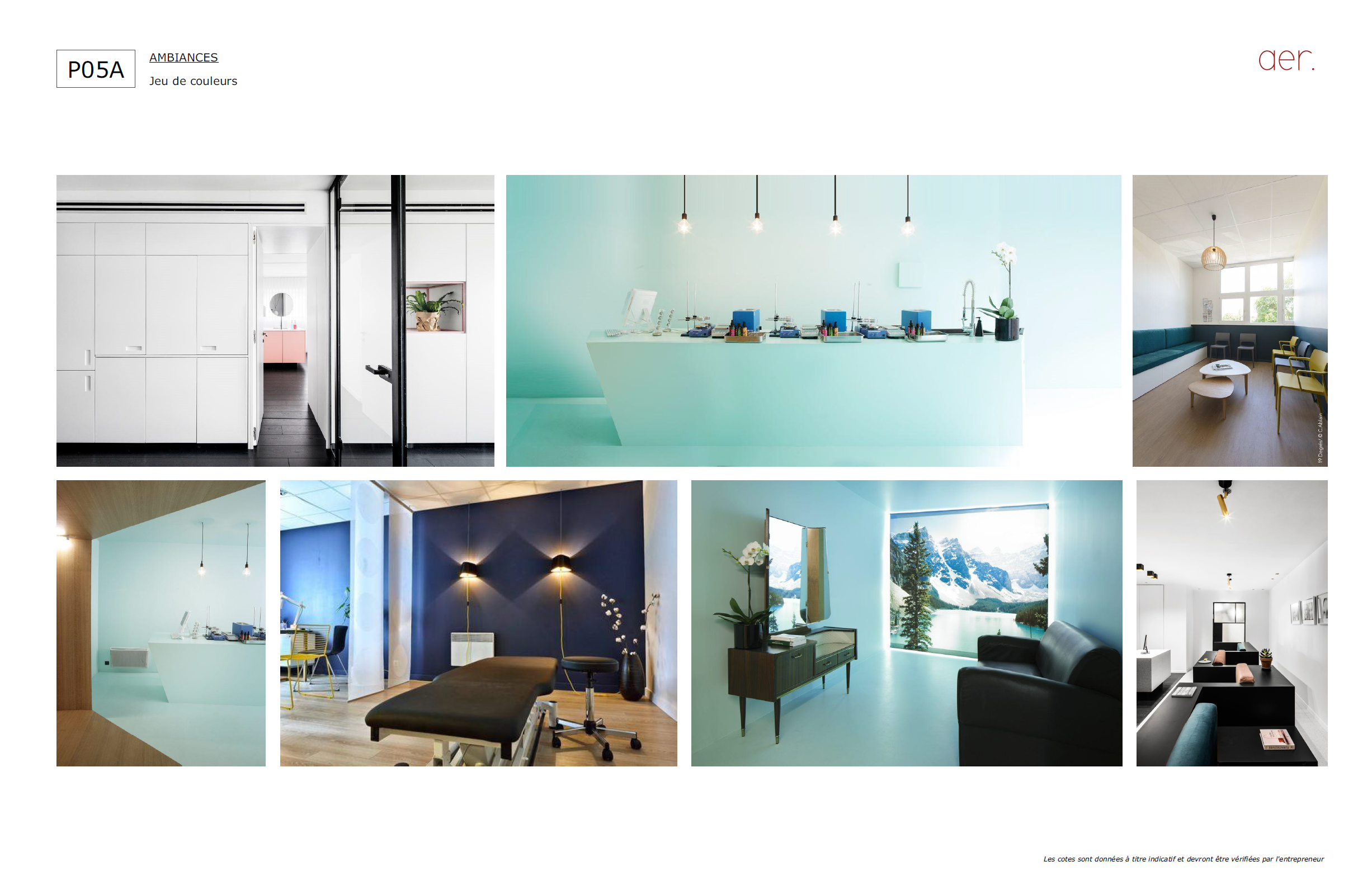 MOOD BOARD : AMBIANCE COLOREE | crédits photo : AER Architecture