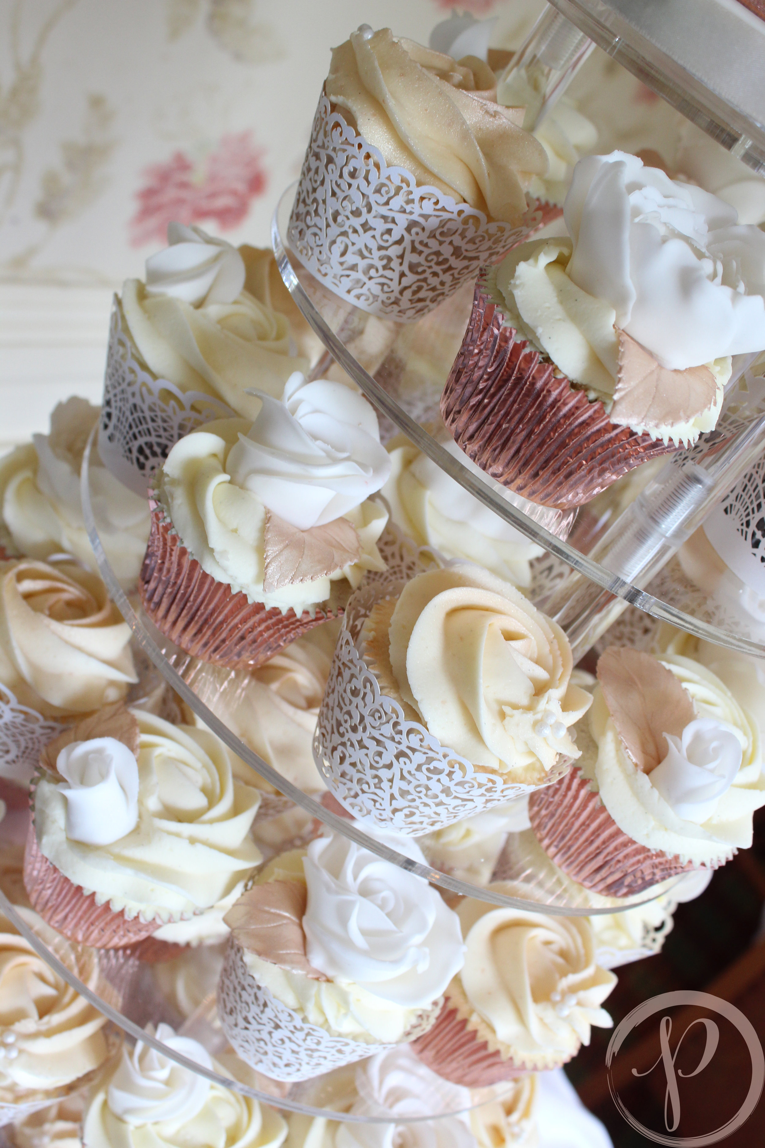 rose gold ivory sugar flower wedding cupcakes.jpg