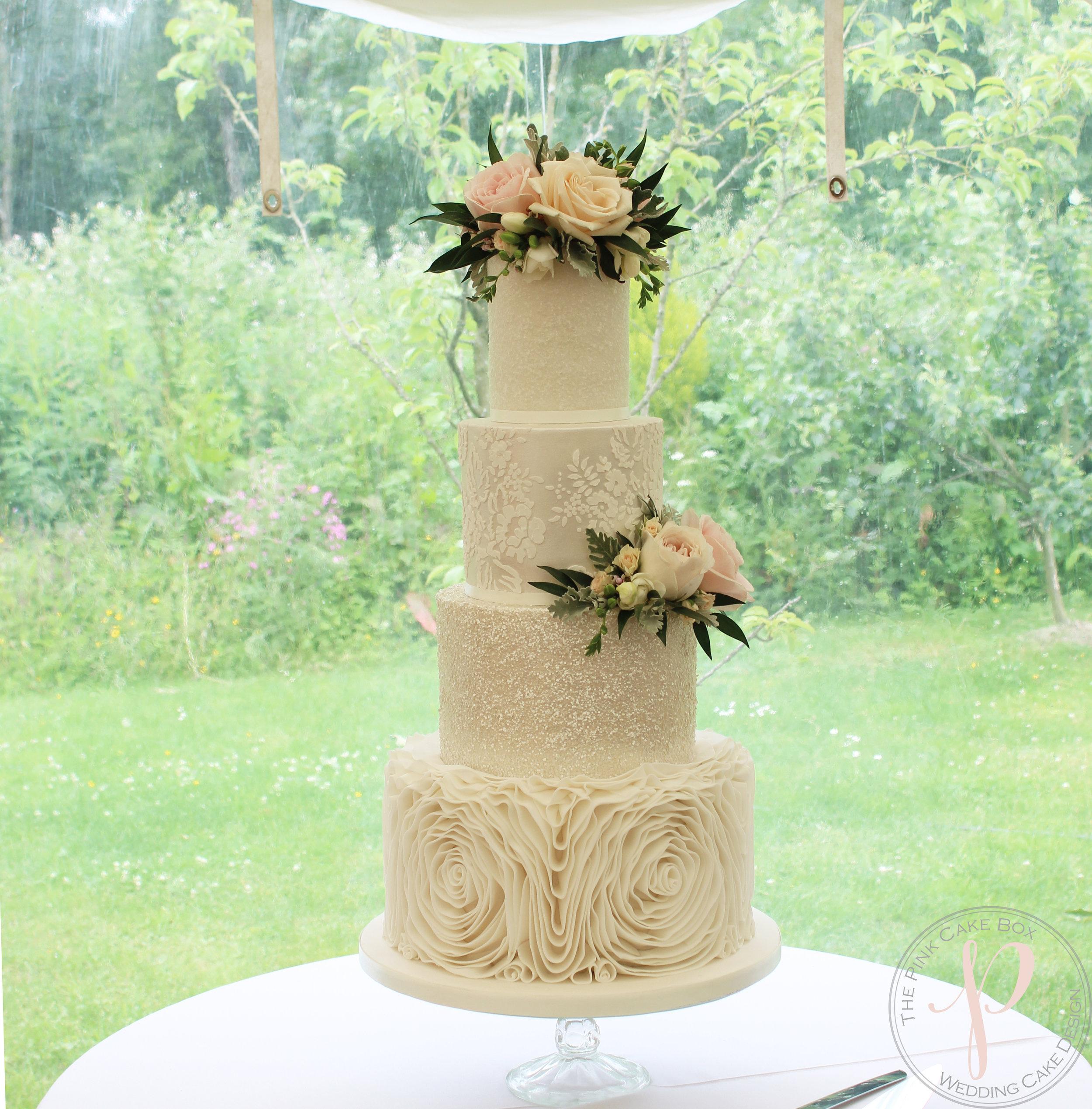 sparkle lace lustre ruffle wedding cake.jpg