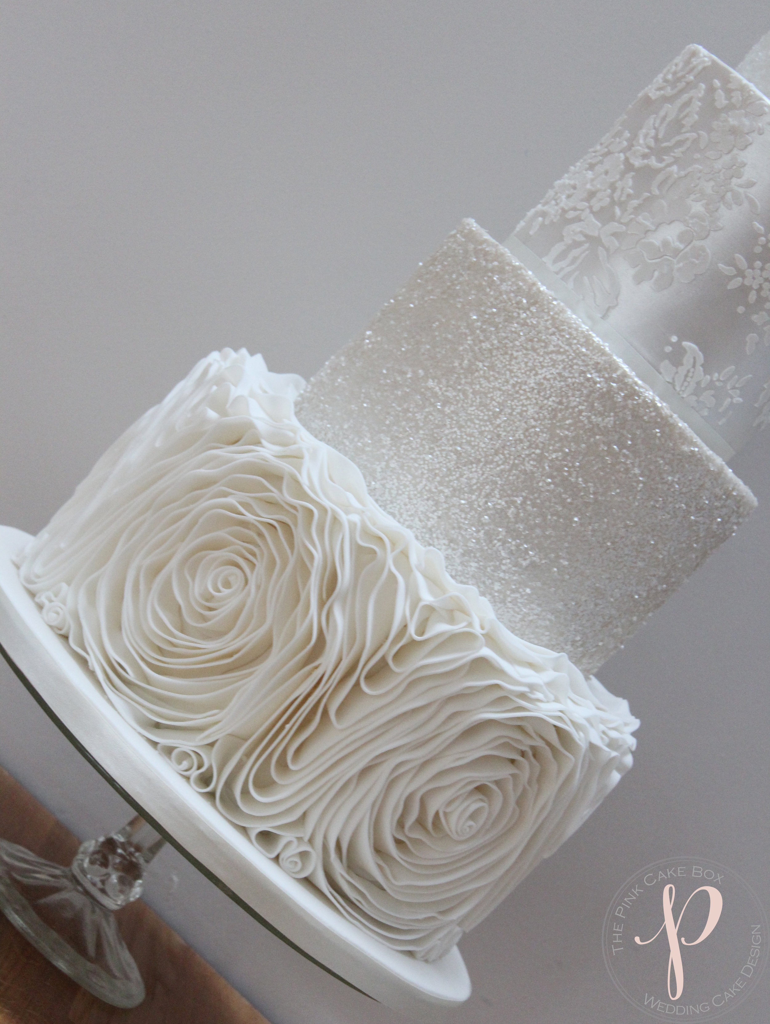 ruffle sparkly wedding cake.jpg