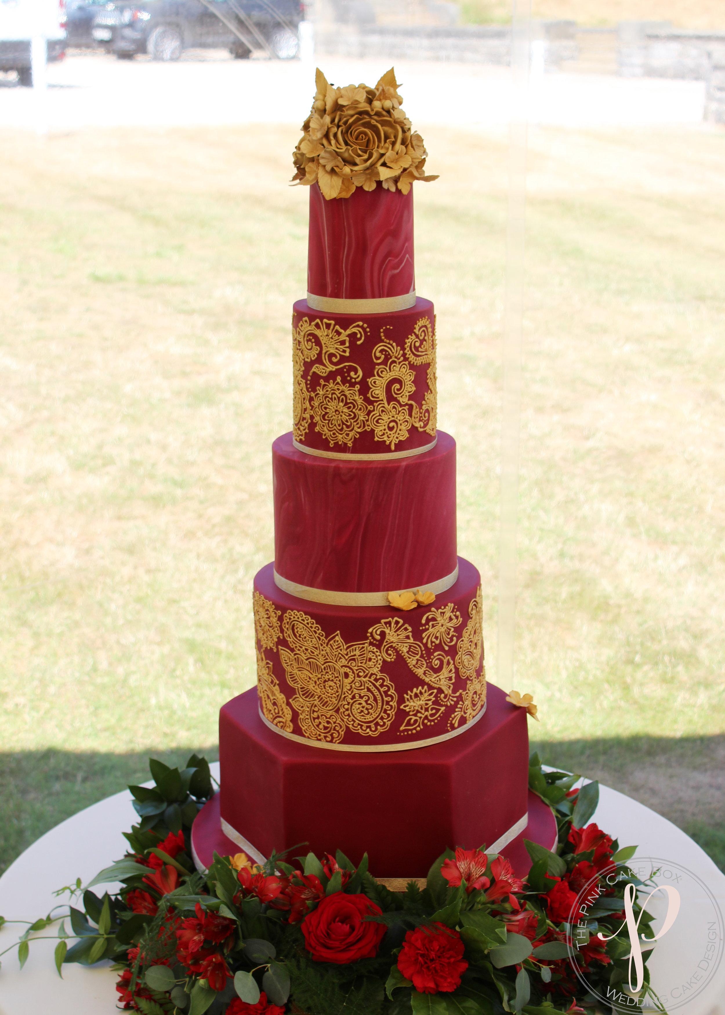red gold indian wedding cake.jpg