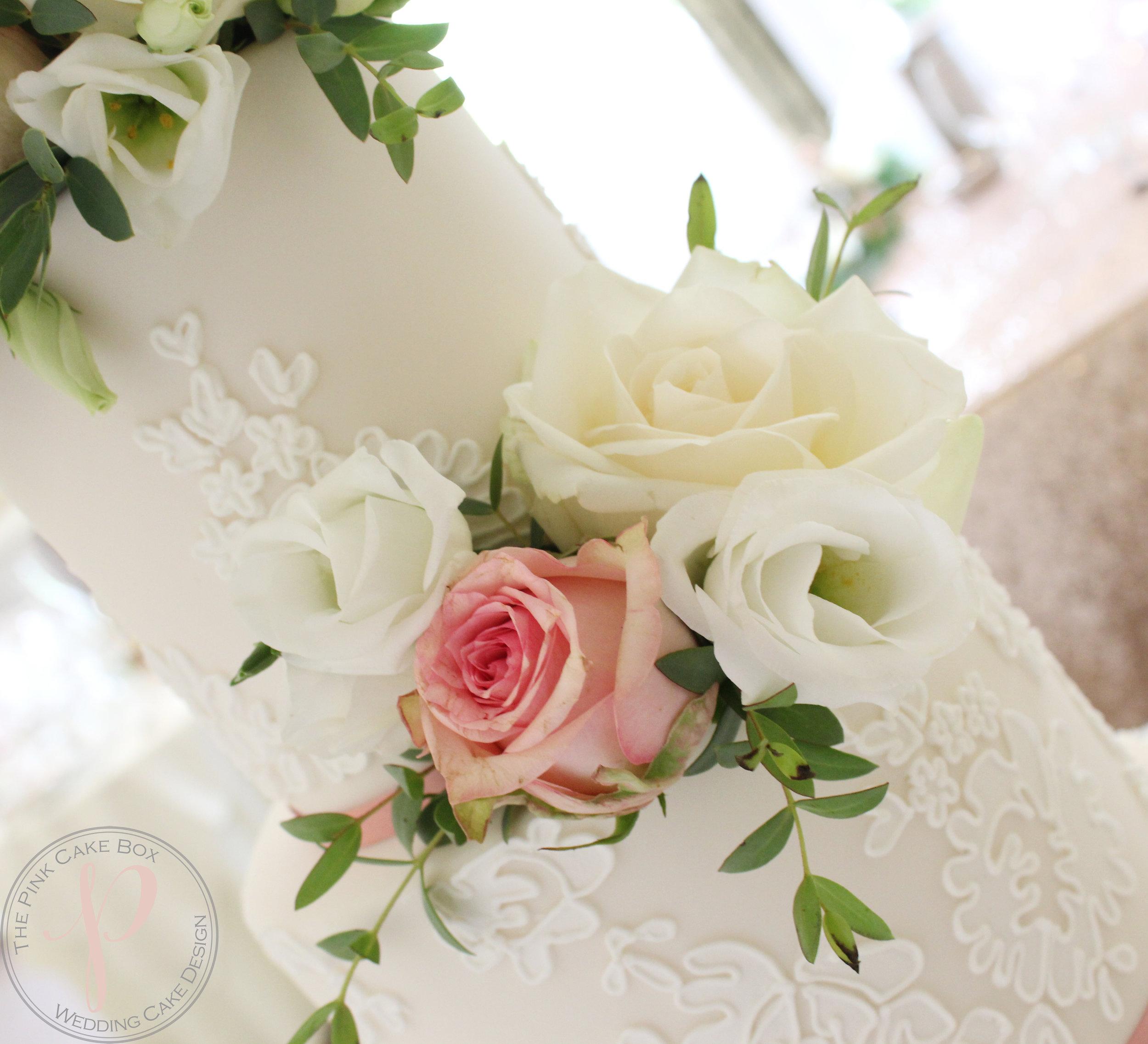 fresh flowers lace wedding cake.jpg