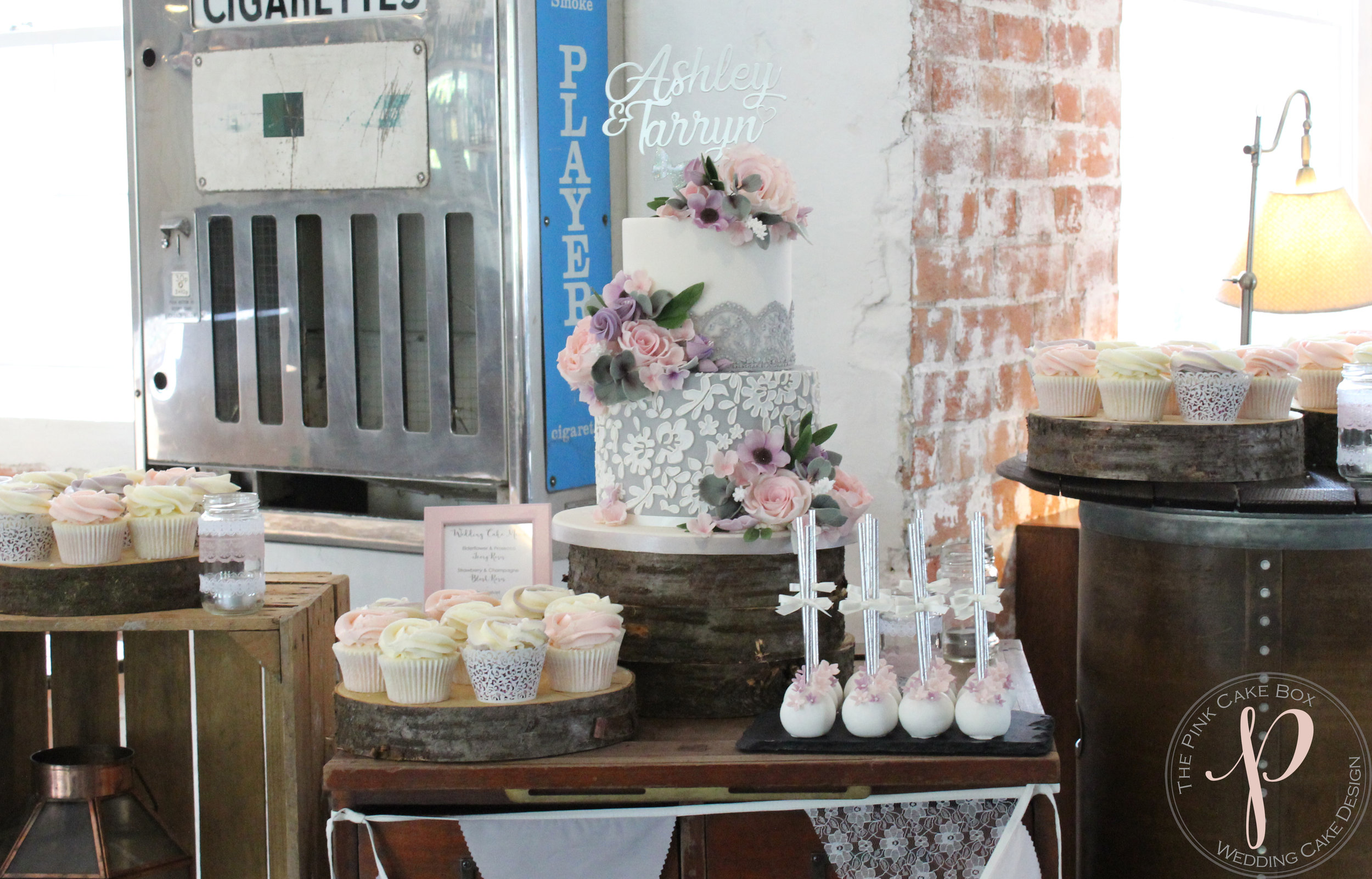 grey lace wedding cake table cupcakes.jpg
